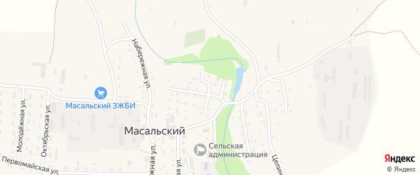 Заречная улица на карте Масальского поселка с номерами домов