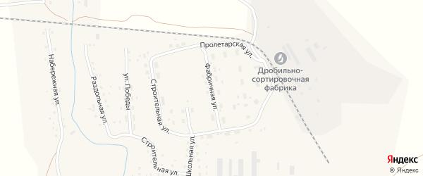 Фабричная улица на карте Масальского поселка с номерами домов