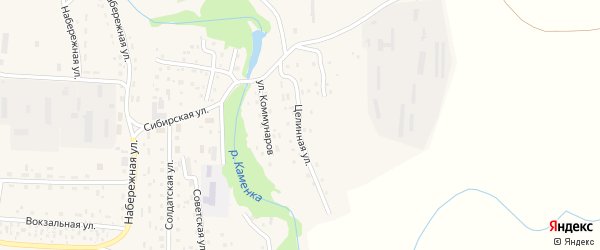 Целинная улица на карте Масальского поселка с номерами домов