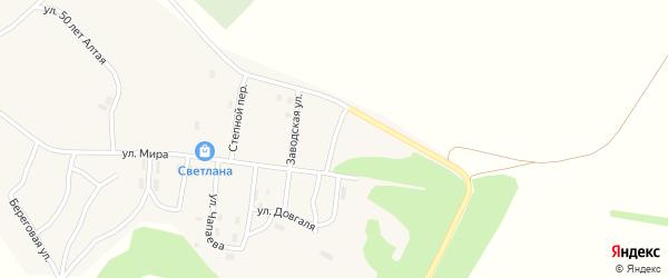Заводская улица на карте села Гилево с номерами домов