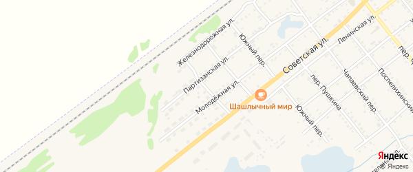 Концевой переулок на карте села Поспелихи с номерами домов