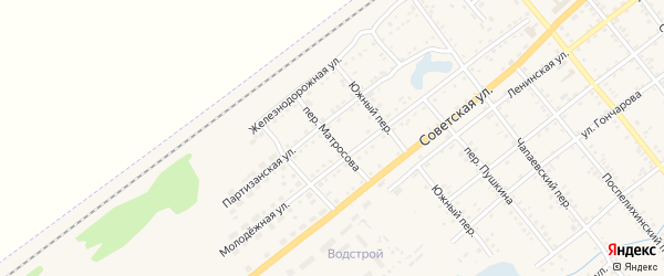 Переулок Матросова на карте села Поспелихи с номерами домов