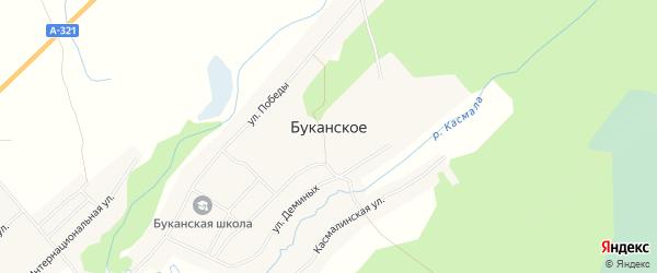 Карта Буканского села в Алтайском крае с улицами и номерами домов