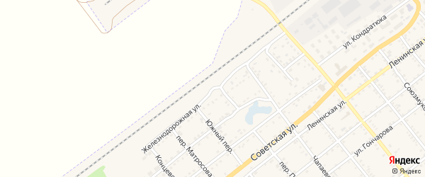 Железнодорожная улица на карте села Поспелихи с номерами домов