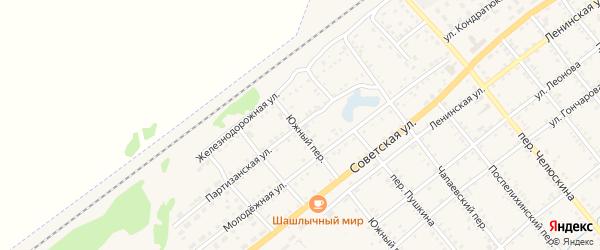 Партизанская улица на карте села Поспелихи с номерами домов