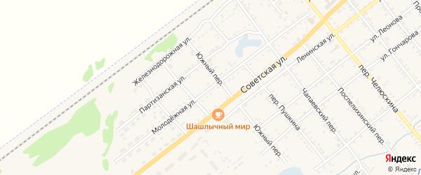 Молодежная улица на карте села Поспелихи с номерами домов