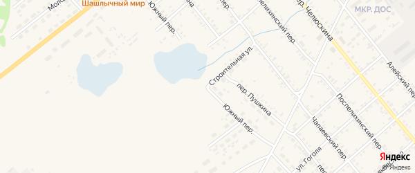 Южный переулок на карте села Поспелихи с номерами домов
