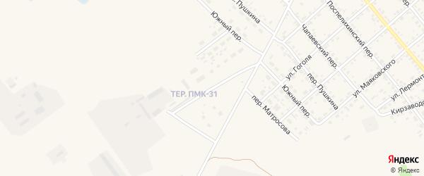 Территория ПМК31 на карте села Поспелихи с номерами домов