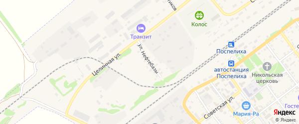 Территория Нефтебазы на карте села Поспелихи с номерами домов