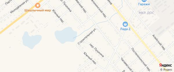 Строительная улица на карте села Поспелихи с номерами домов