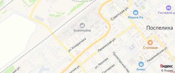 Улица Кондратюка на карте села Поспелихи с номерами домов