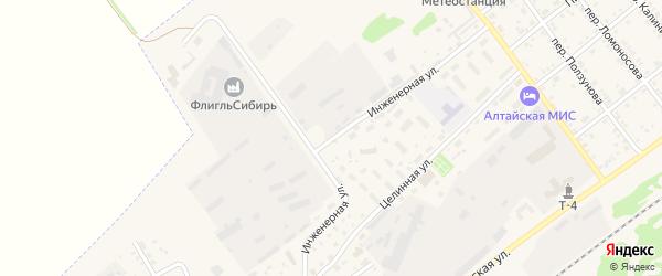 Инженерная улица на карте села Поспелихи с номерами домов