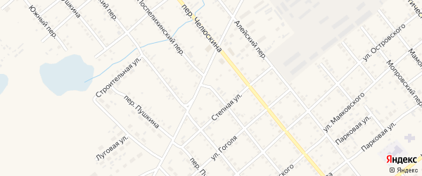 Поспелихинский переулок на карте села Поспелихи с номерами домов
