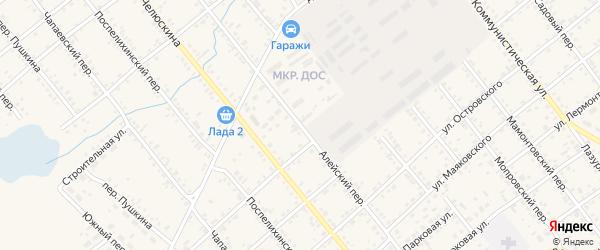 Алейский переулок на карте села Поспелихи с номерами домов