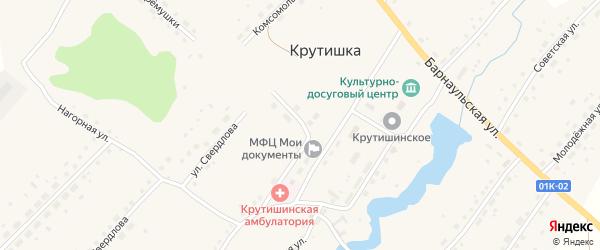 Барнаульская улица на карте села Крутишки с номерами домов
