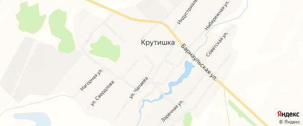 Карта села Крутишки в Алтайском крае с улицами и номерами домов