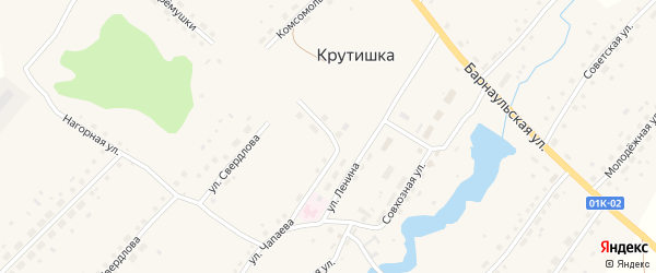 Улица Черемушки на карте села Крутишки с номерами домов
