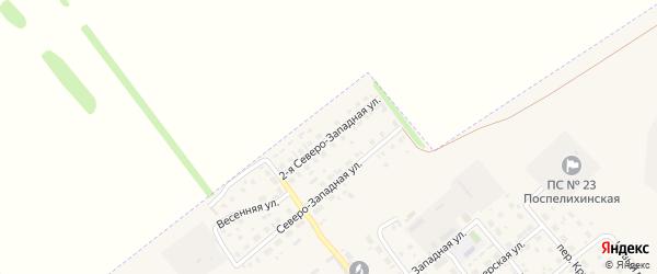 2-я Северо-Западная улица на карте села Поспелихи с номерами домов