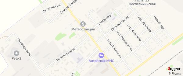 Октябрьский переулок на карте села Поспелихи с номерами домов