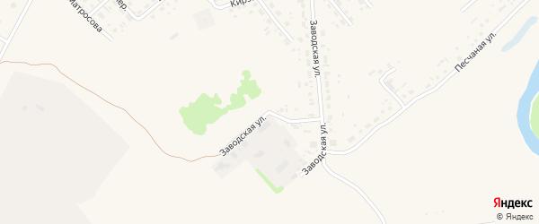 Заводская улица на карте села Поспелихи с номерами домов