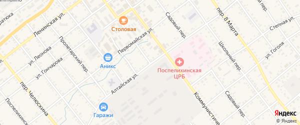 Мамонтовский переулок на карте села Поспелихи с номерами домов