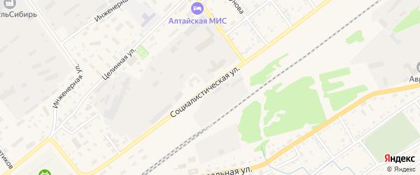 Социалистическая улица на карте села Поспелихи с номерами домов