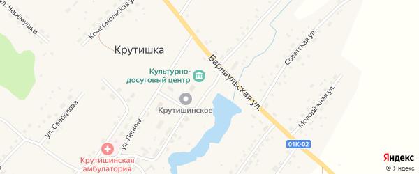 Улица Свердлова на карте села Крутишки с номерами домов