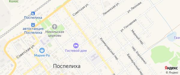Улица Леонова на карте села Поспелихи с номерами домов