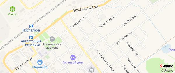 Ленинская улица на карте села Поспелихи с номерами домов