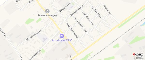 Переулок Ползунова на карте села Поспелихи с номерами домов