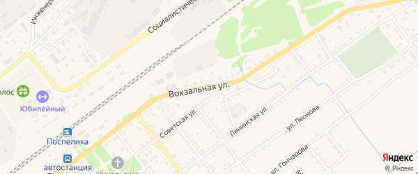 Вокзальная улица на карте села Поспелихи с номерами домов