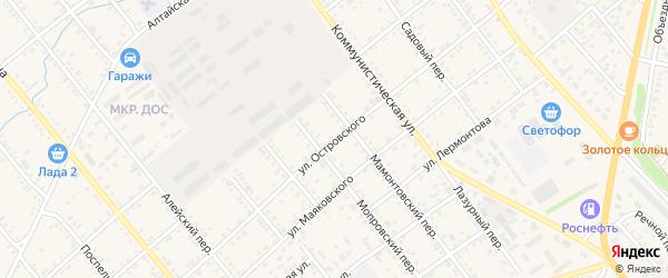 Улица Островского на карте села Поспелихи с номерами домов