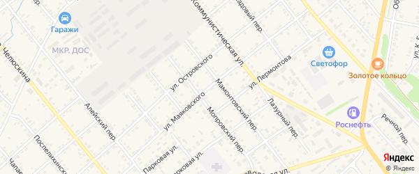 Улица Маяковского на карте села Поспелихи с номерами домов