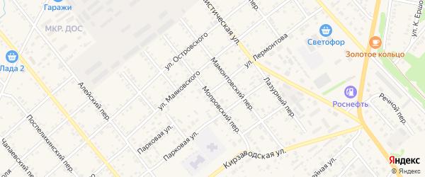 Улица Лермонтова на карте села Поспелихи с номерами домов