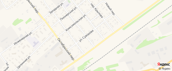 Улица Суворова на карте села Поспелихи с номерами домов