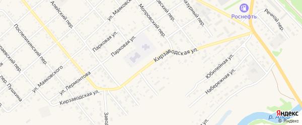 Кирзаводская улица на карте села Поспелихи с номерами домов