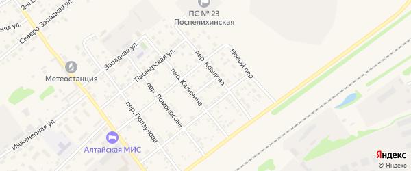 Залинейная улица на карте села Поспелихи с номерами домов