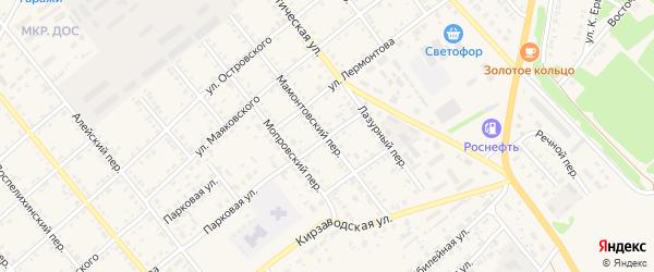Улица Кутузова на карте села Поспелихи с номерами домов