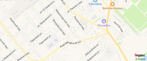 Улица Котовского на карте села Поспелихи с номерами домов