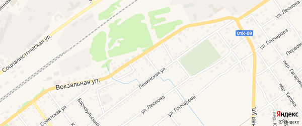 Переулок Ручьев на карте села Поспелихи с номерами домов
