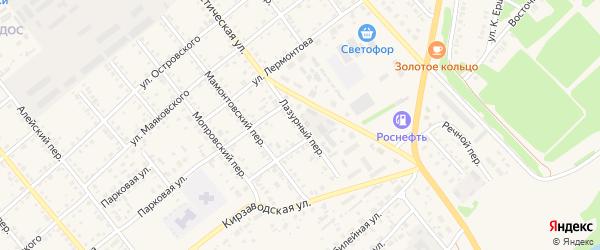 Лазурный переулок на карте села Поспелихи с номерами домов