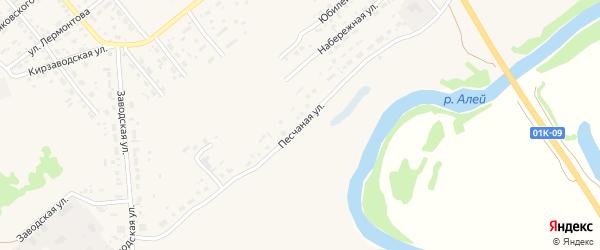 Песчаная улица на карте территории сдт Мичуринца с номерами домов