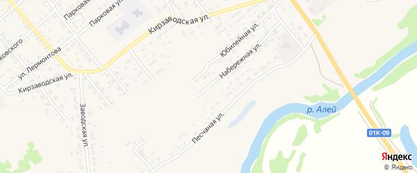 Набережная улица на карте территории сдт Мичуринца с номерами домов