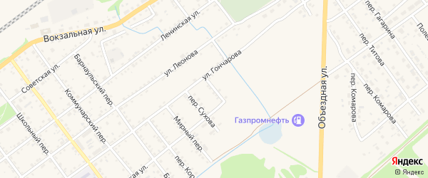 Болотный переулок на карте села Поспелихи с номерами домов