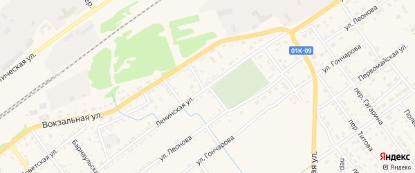 Северный переулок на карте села Поспелихи с номерами домов