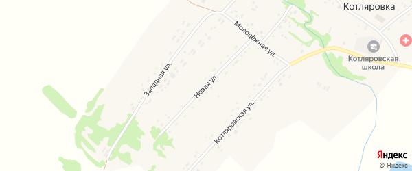 Новая улица на карте поселка Котляровки с номерами домов