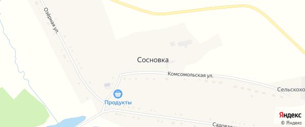 Озерная улица на карте поселка Сосновки с номерами домов