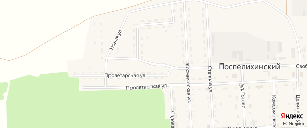 Молодежная улица на карте Поспелихинского поселка с номерами домов