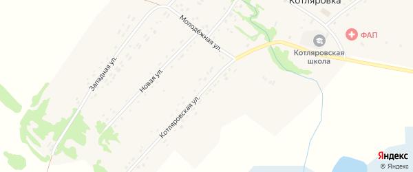 Котляровская улица на карте поселка Котляровки с номерами домов