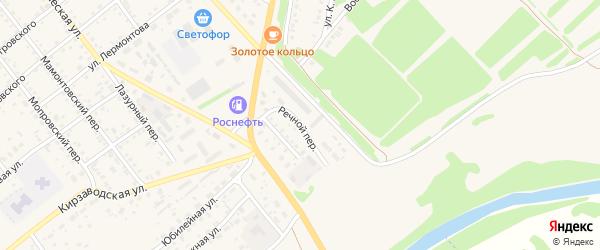 Речной переулок на карте села Поспелихи с номерами домов